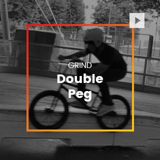 Double peg bmx